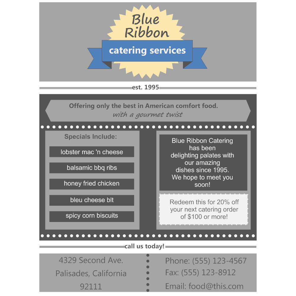 Example Image: Catering Services Flyer