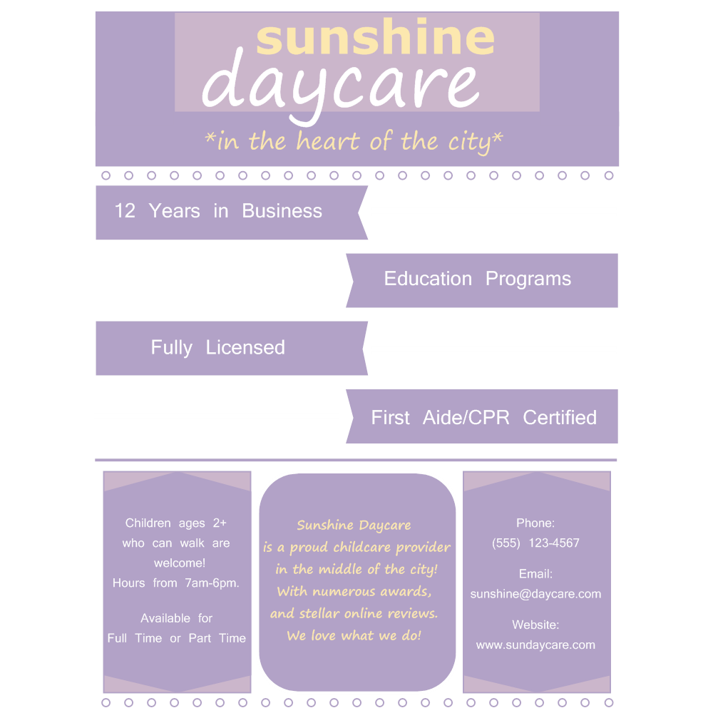 Example Image: Daycare Flyer