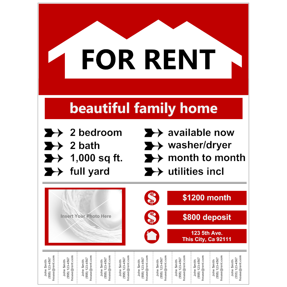 Flyer Example - For Rent