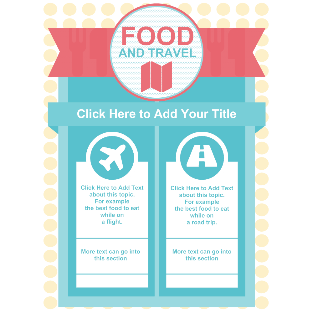 Example Image: Food  and Travel Infographic Template