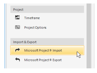 Microsoft Project integration