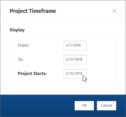 Adjust the timeframe of your Gantt chart