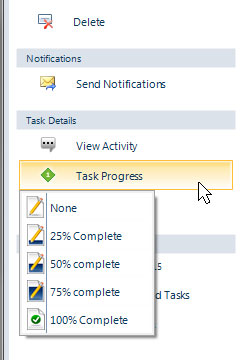 Project task progress