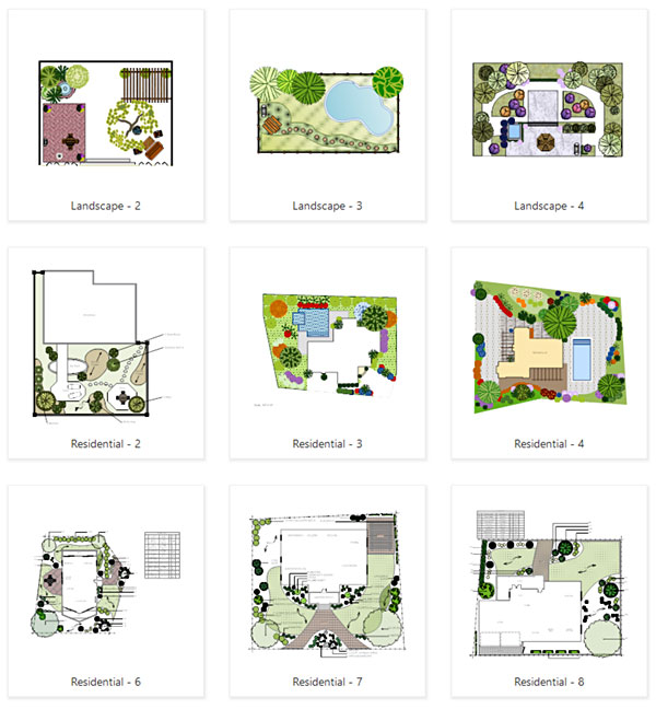 garden templates - Garden Design Layouts