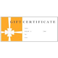 gift certificate examples  Gift Certificate Examples