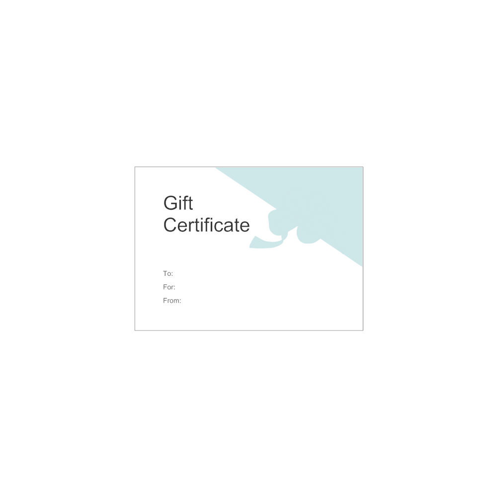 Example Image: Gift Certificate Template 5