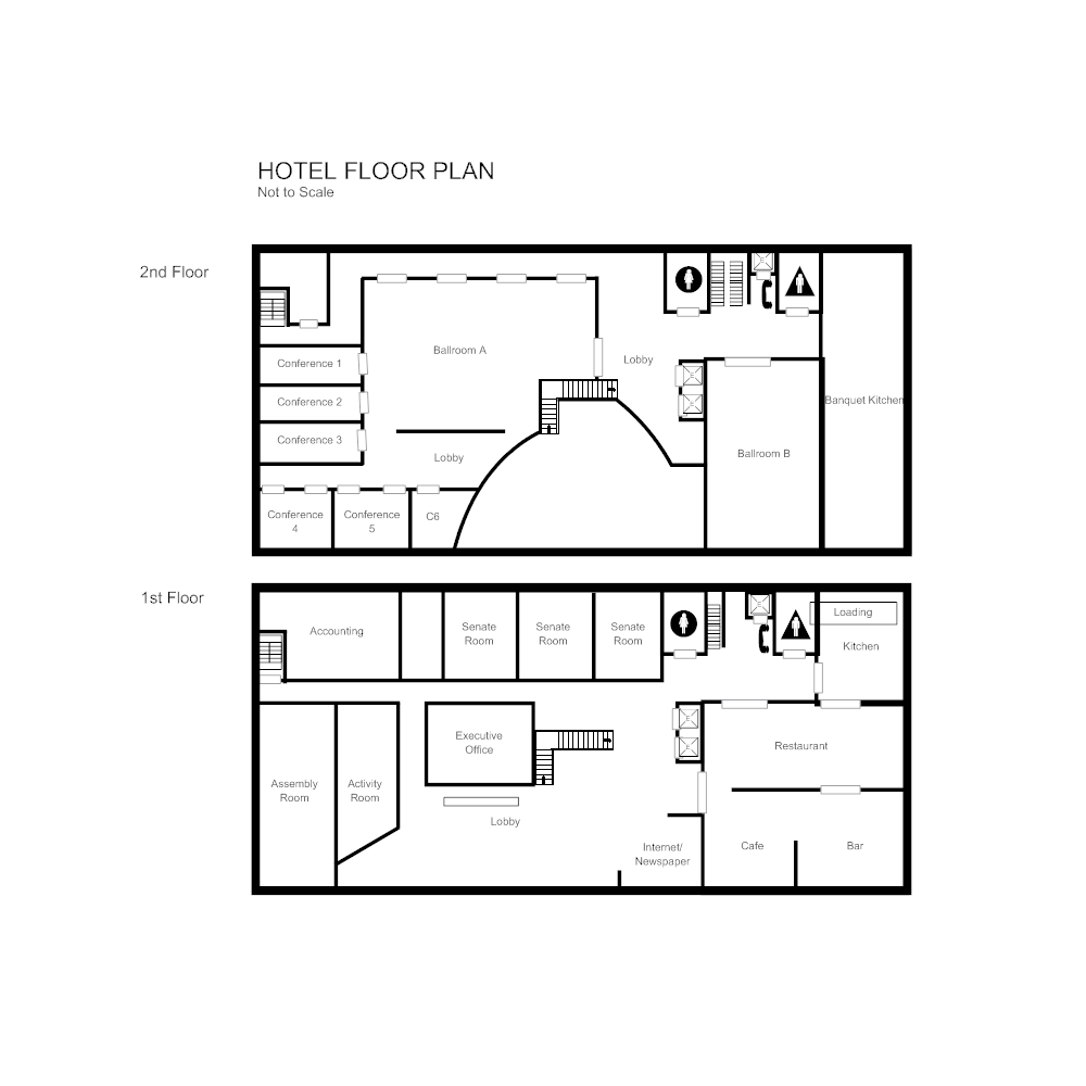 Hotel floor plan for How to draw a restaurant floor plan