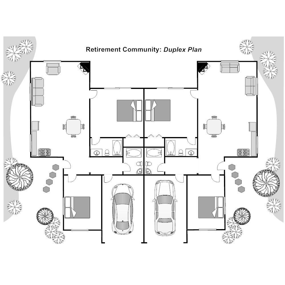 attractive plan duplex #9: CLICK TO EDIT THIS EXAMPLE · Example Image: Duplex Plan
