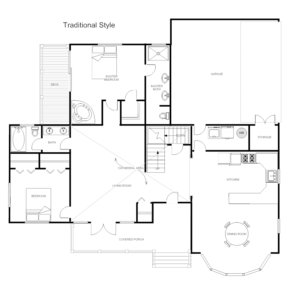 100 Traditional Floor Plan Traditional House Plans