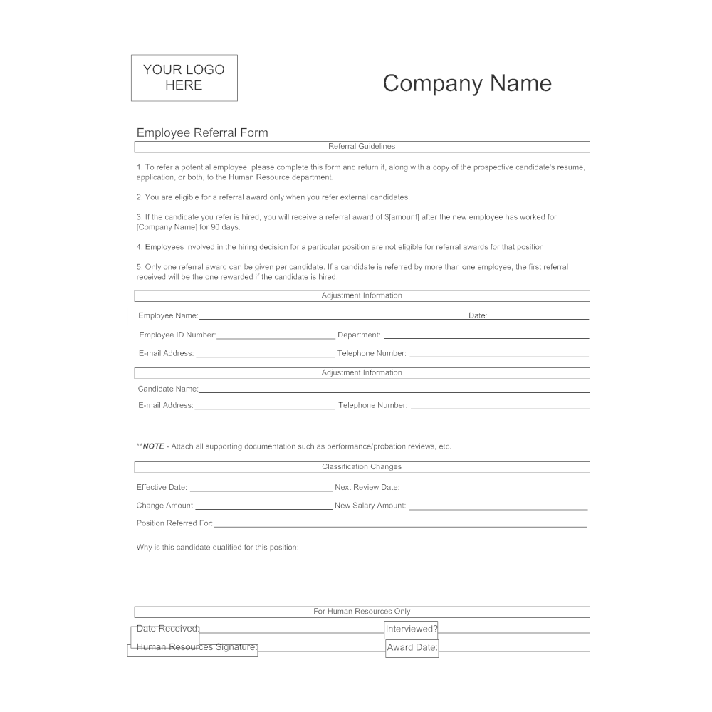referral forms examples