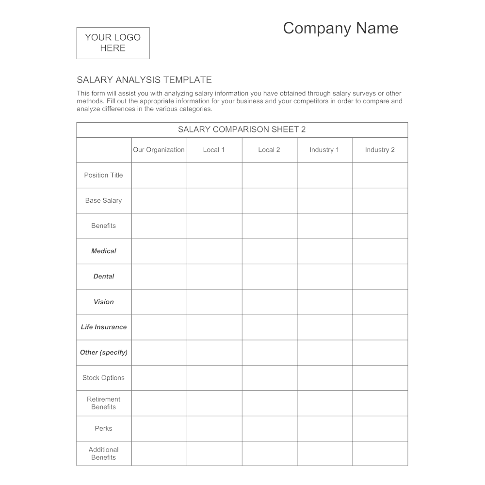salary analysis template 1
