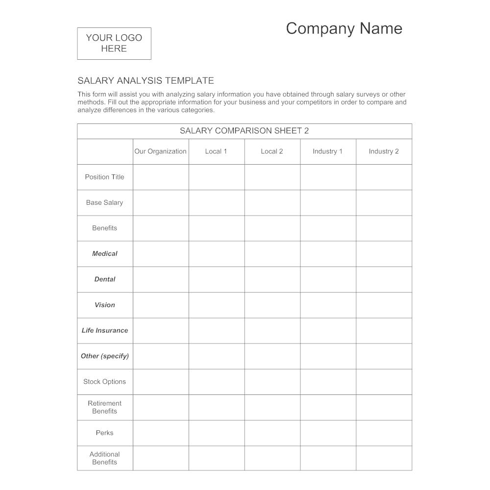 Salary Analysis Template 1 – Salary Survey Template