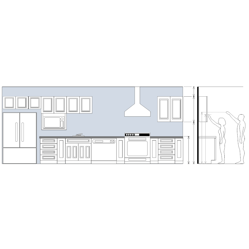 Modern Kitchen Elevation kitchen elevation plan
