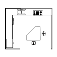 island kitchen plan - Kitchen Cabinet Layout Software
