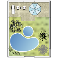 design your yard template