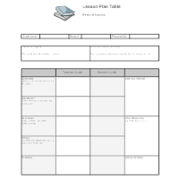 sample lesson plan outline