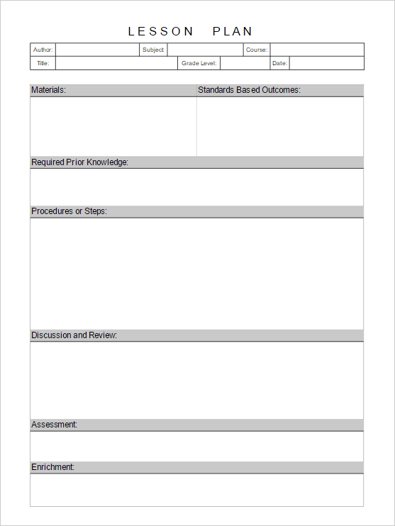 Lesson Plan Template - Add Diagrams Easily to Lesson Plans