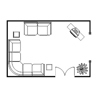 Living Room Layout Plan