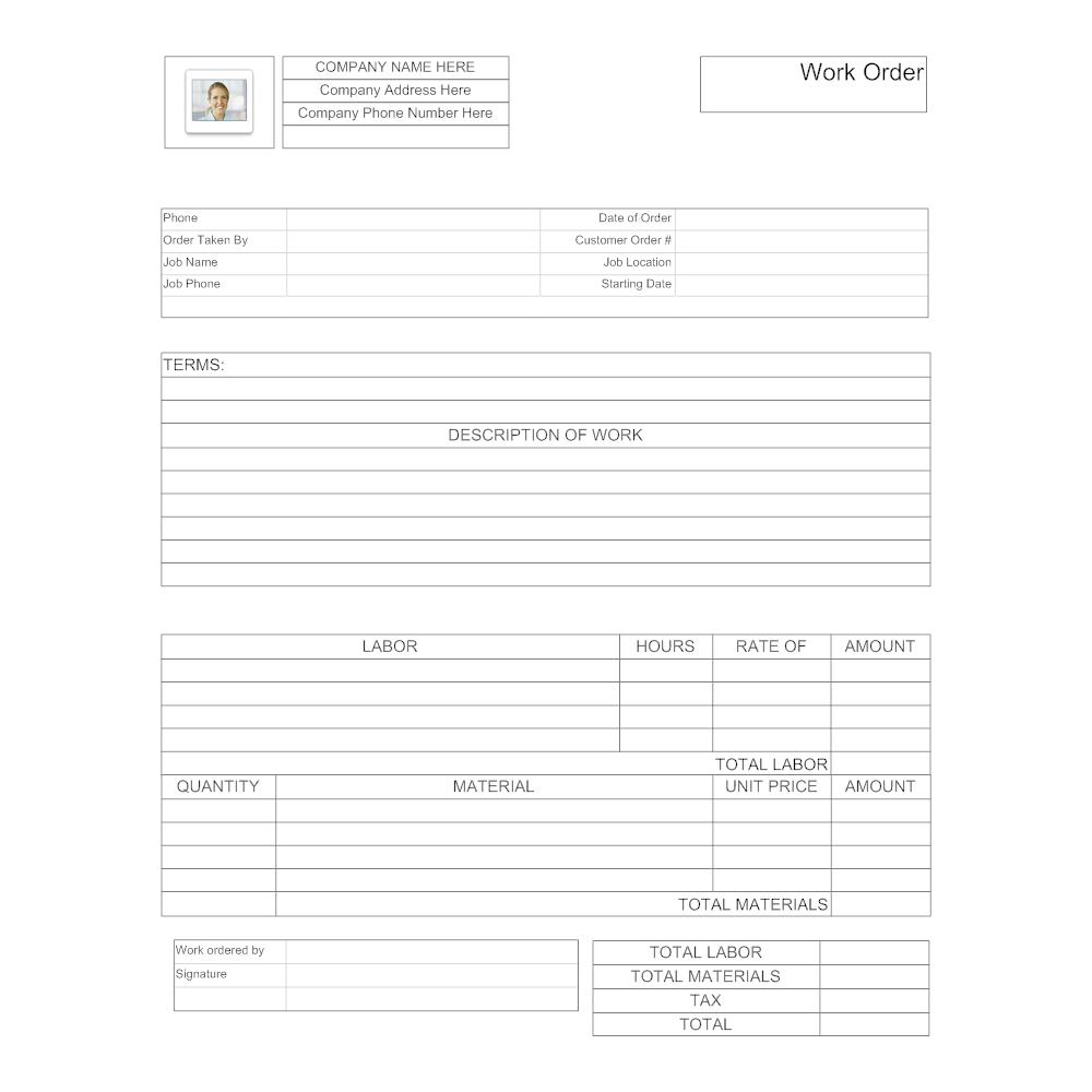 maintenance work order form  Maintenance Work Order Form