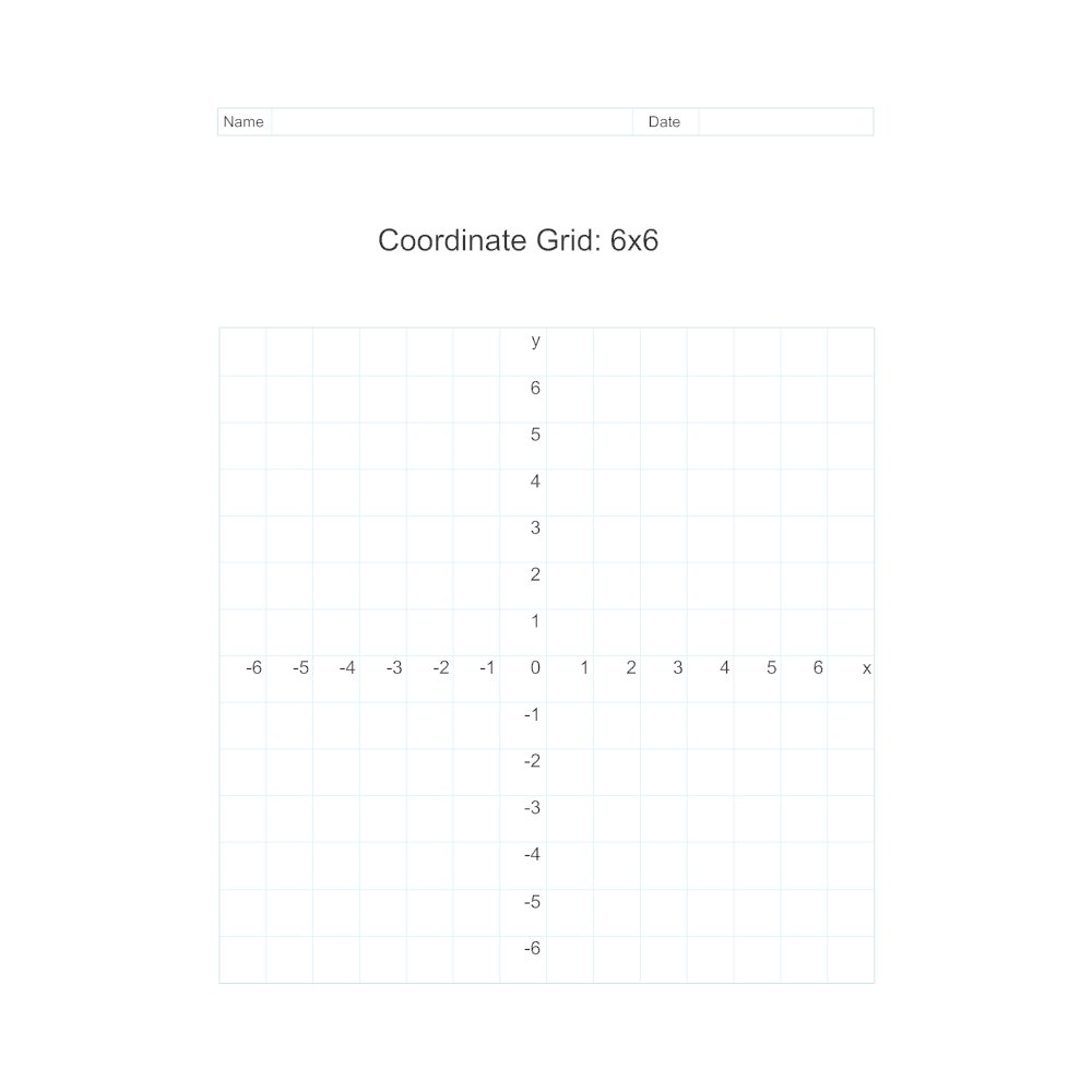 Example Image: Coordinate Grid - 6x6
