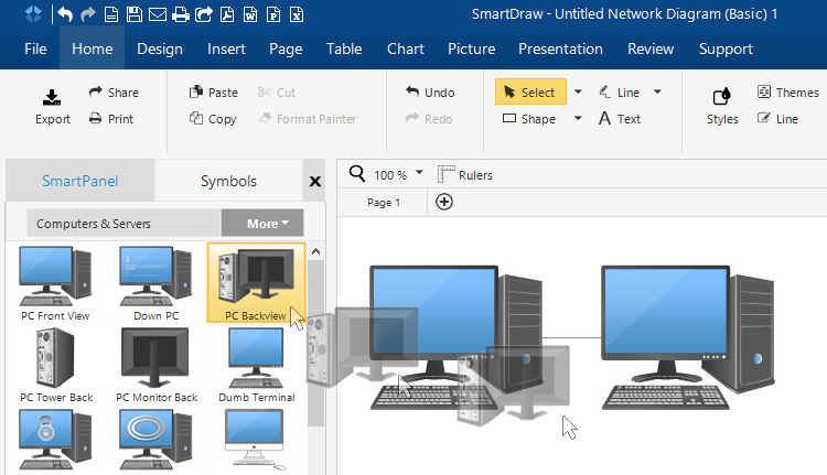 How to draw network diagrams adding network symbols ccuart Images