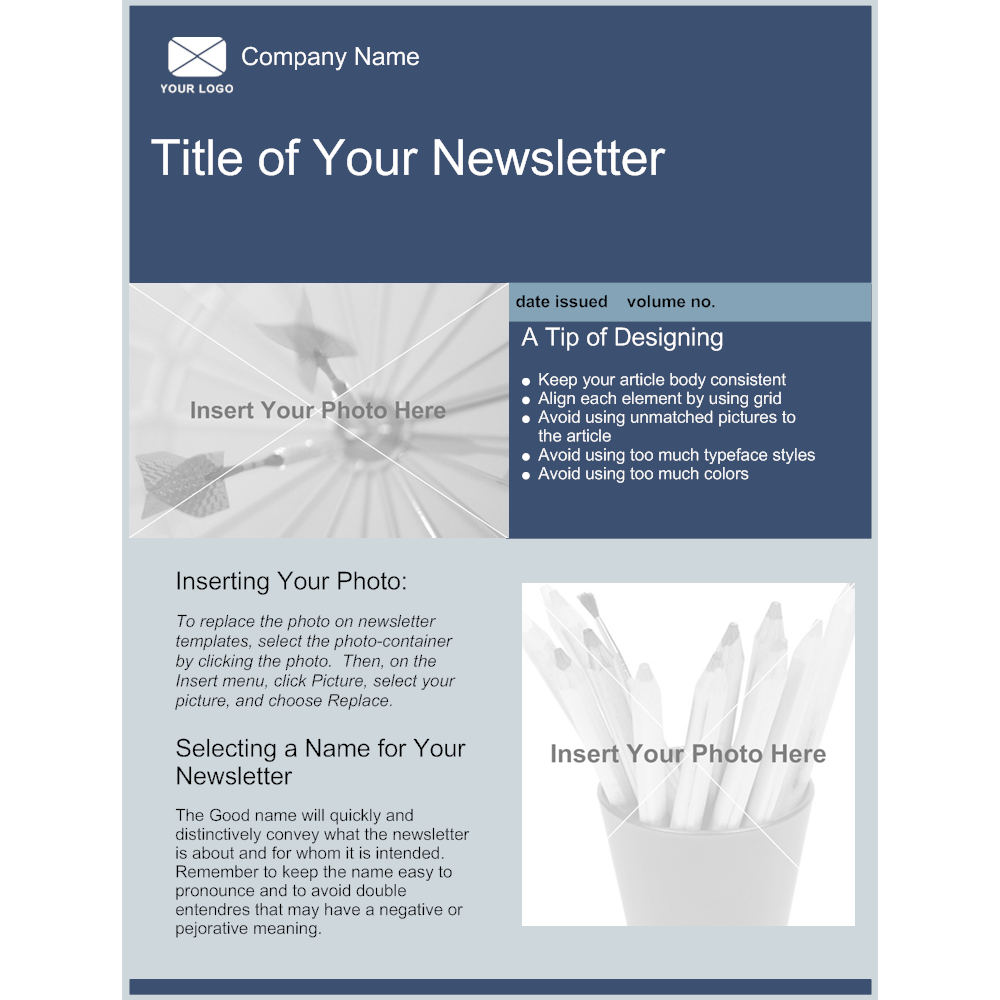 company newsletter template - Newsletter Template