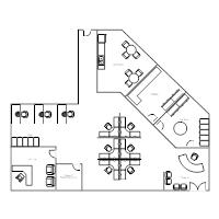 Office floor plan templates for Cubicle floor plan
