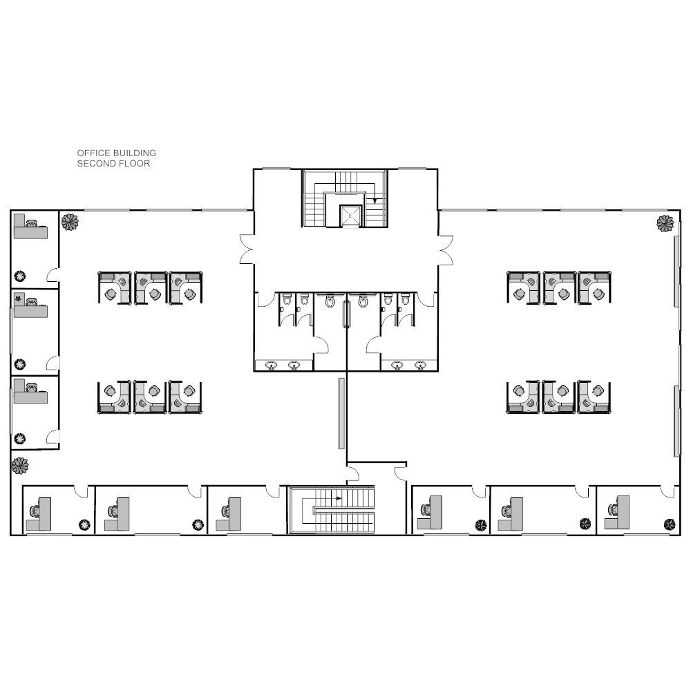Office building layout for Floor layout
