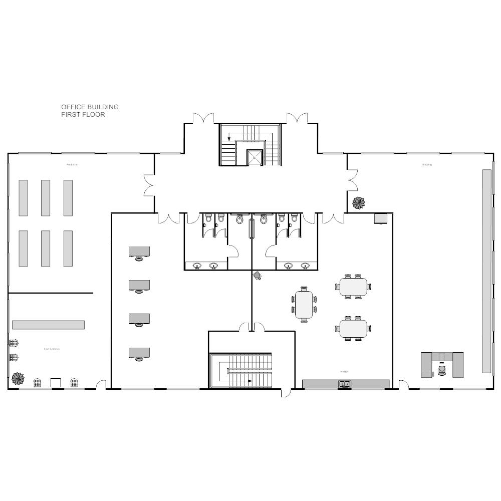 office building floor plan.  Office Building Plan