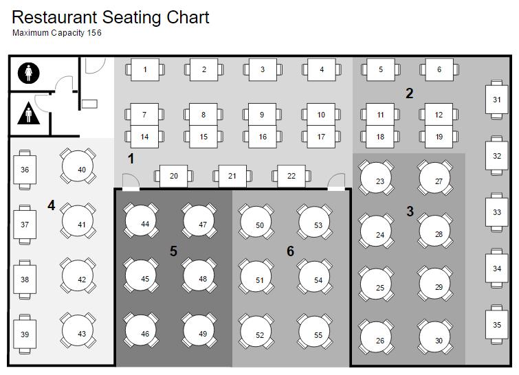 restaurant floor plan - Building Layout Planner