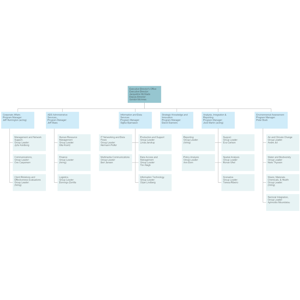 Example Image: Environmental Agency Org Chart