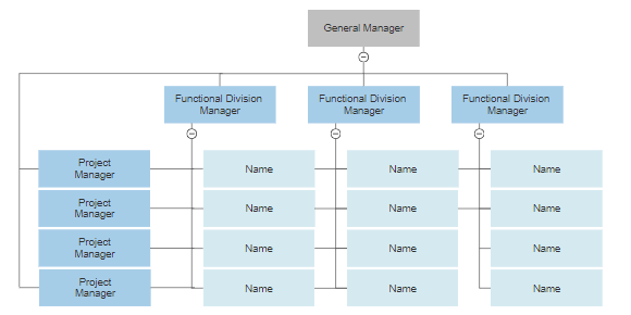 Four Types Of Organizational Charts Functional Top Down