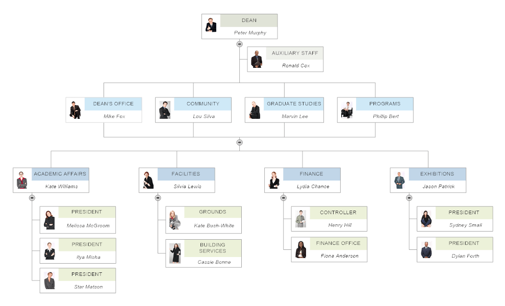 create an organizational chart