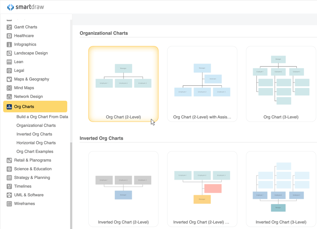 Make Organizational Charts In Word With Templates From SmartDraw - Org chart template word