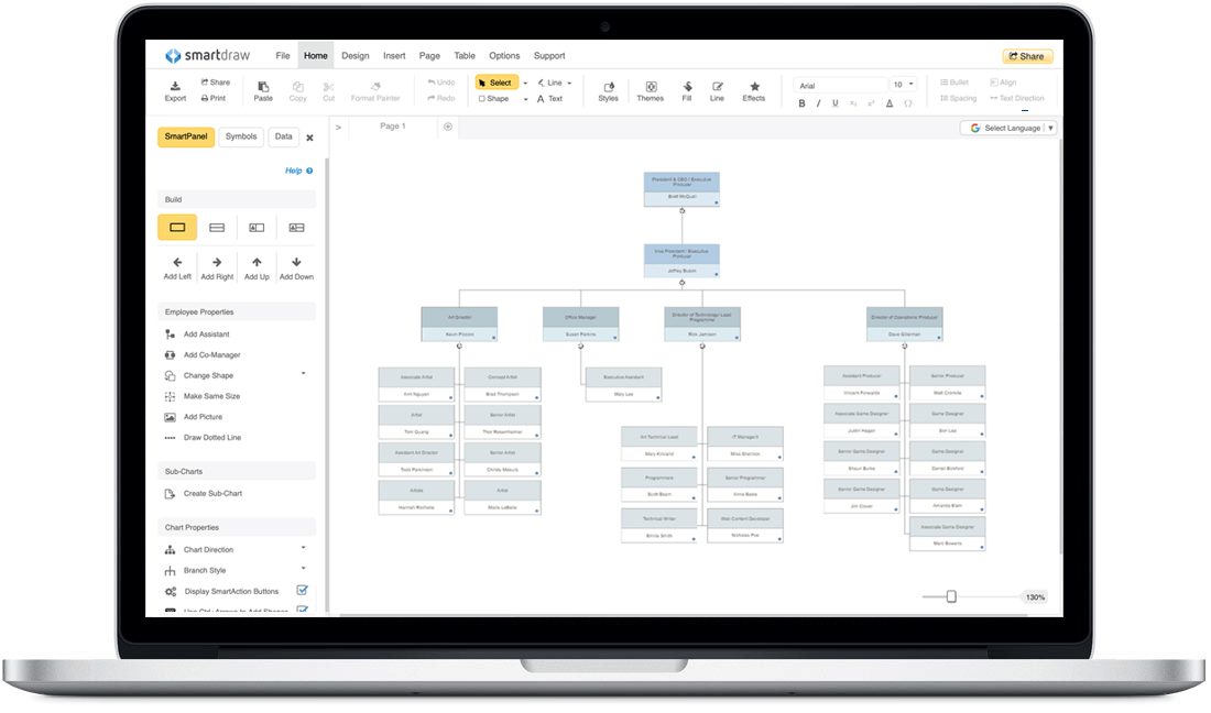 Org chart for Mac