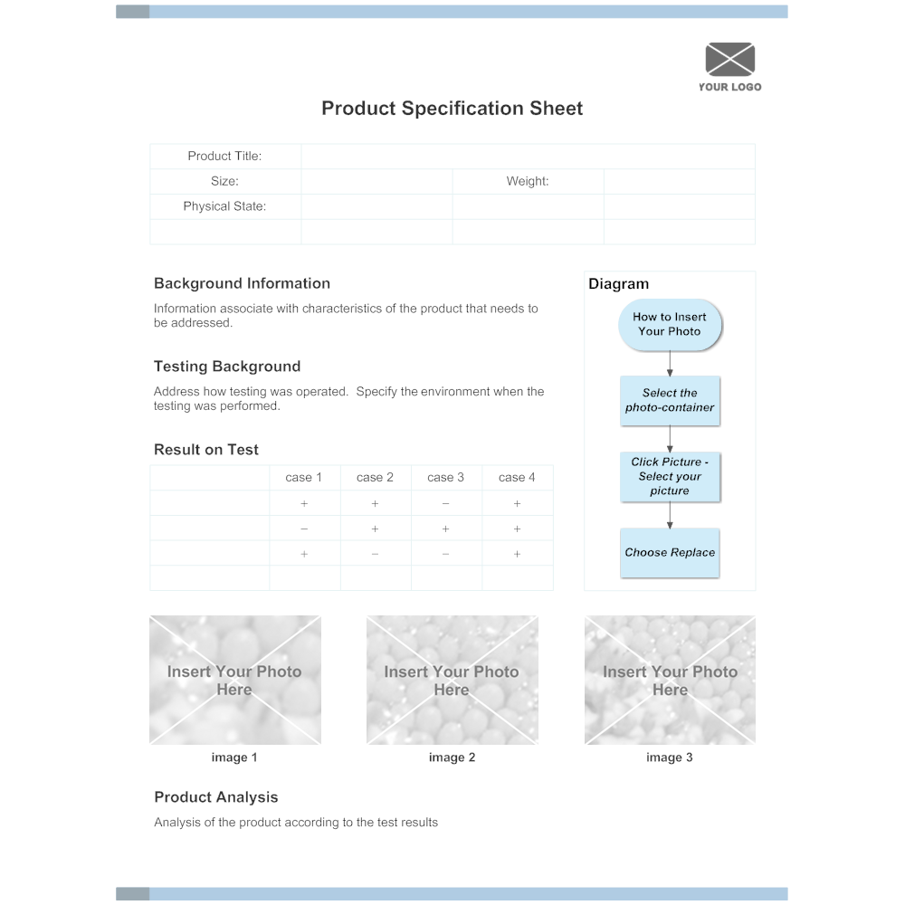 Product Specification Sheet Example – Spec Sheet Template