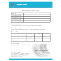 tear sheet examples