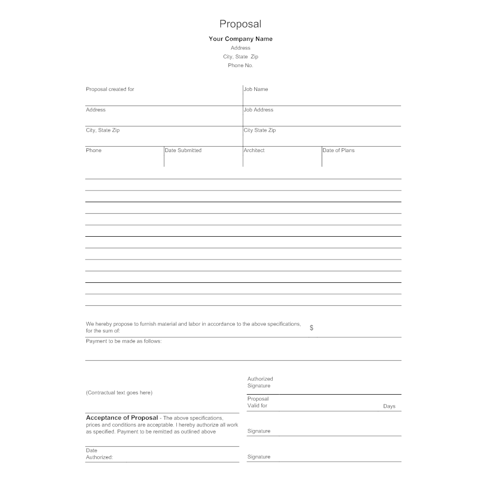 Business proposal form accmission Gallery