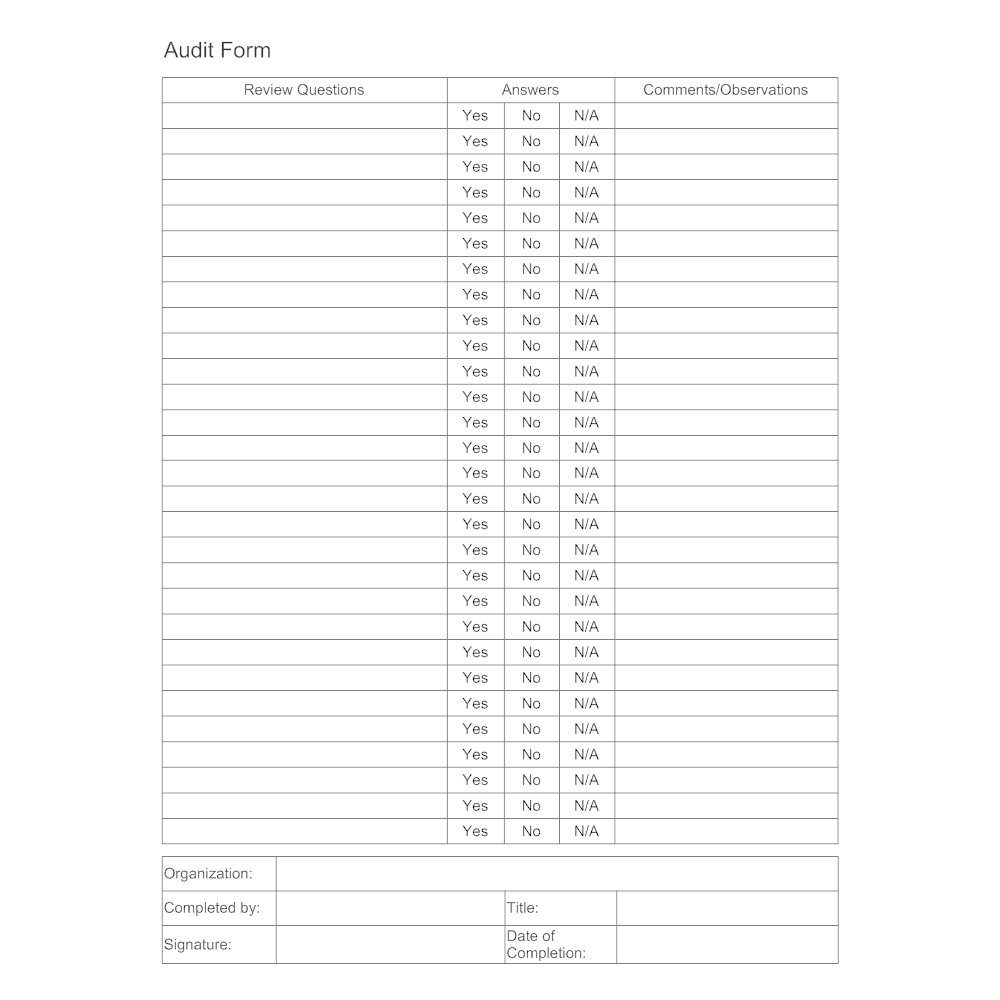 Audit Form Template 2