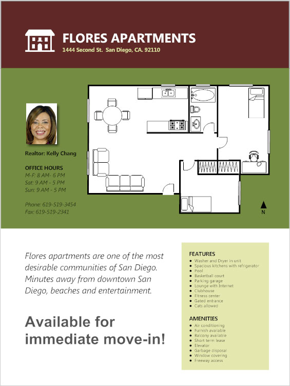 Real estate flyer - Apartment building