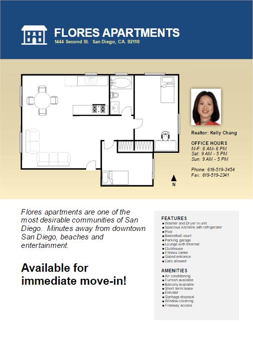 Real Estate Flyer Easily Create Property Floor Plans
