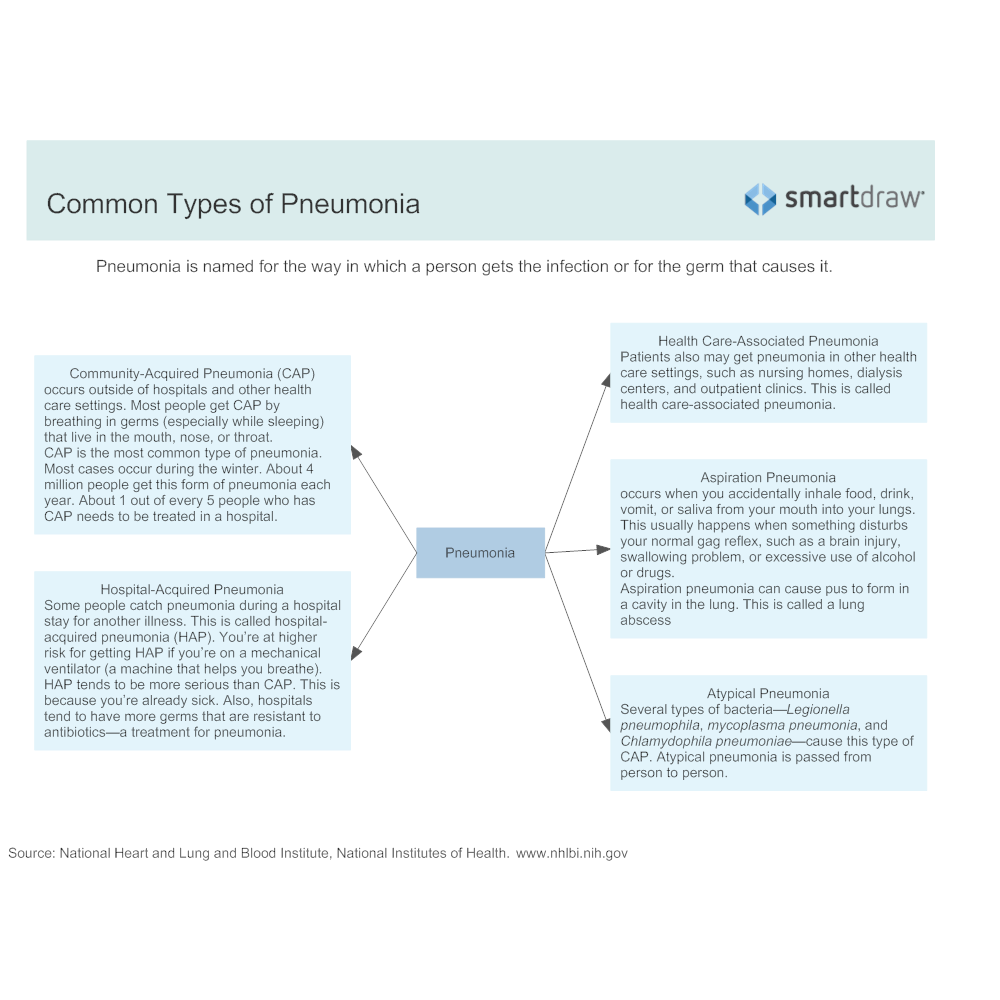 Example Image: Common Types of Pneumonia