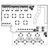 Simple Kitchen Floor Plan restaurant floor plan examples
