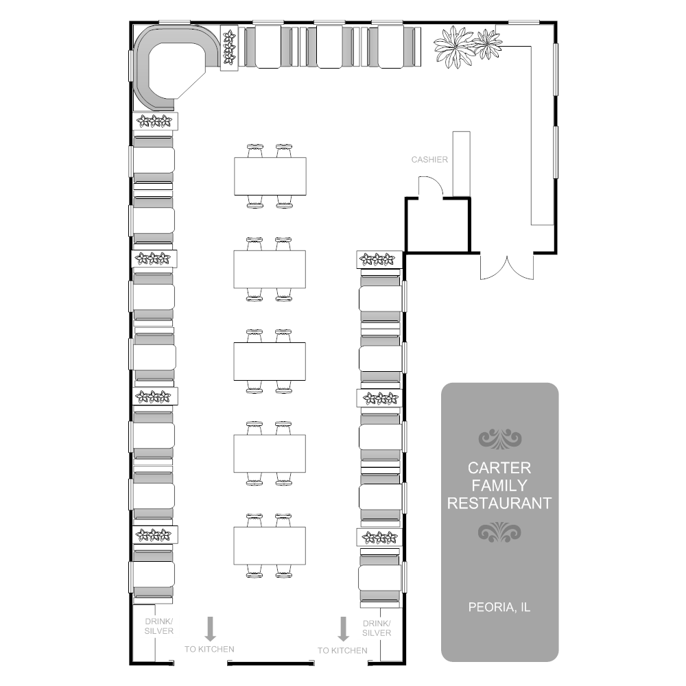 Restaurant floor plan for Restaurant layout floor plan samples