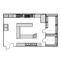 restaurant floor plan. Restaurant Kitchen Floor Plan A