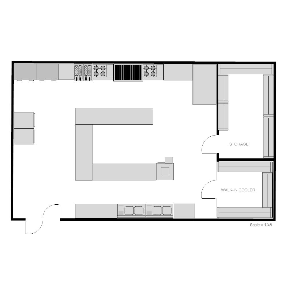 Small restaurant kitchen floor plan - Small Restaurant Kitchen Layout Ideas