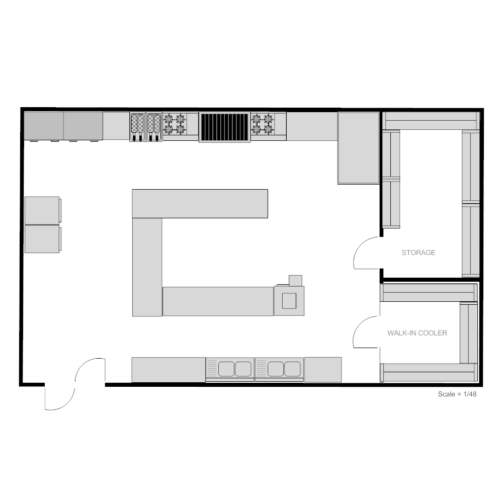 Restaurant kitchen floor plan for Planning a kitchen layout
