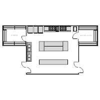 Restaurant Kitchen Area Floor Plan restaurant floor plan examples