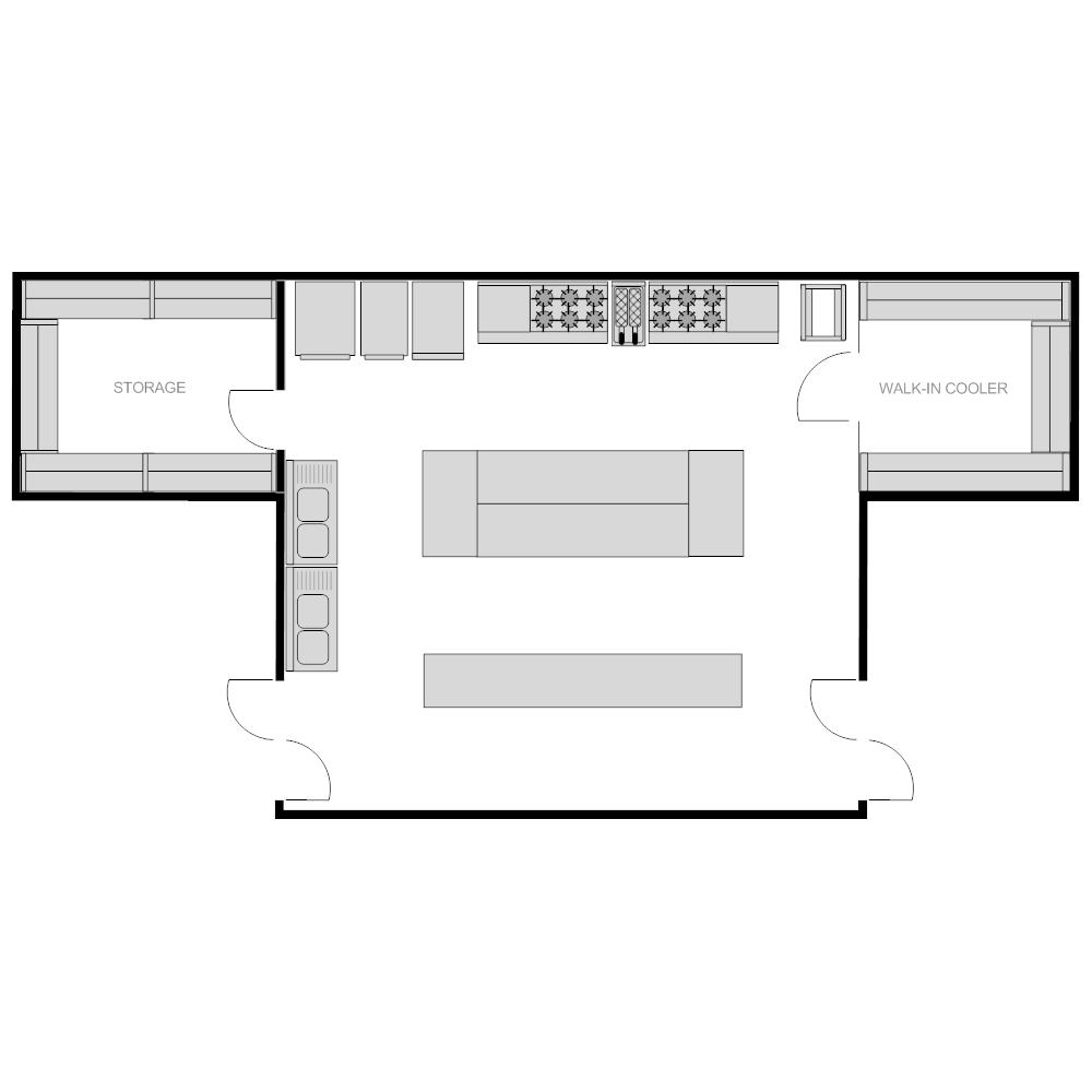 Kitchen Layout Planner: Restaurant Kitchen Plan