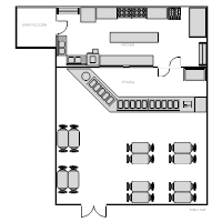 Restaurant Kitchen Floor Plans restaurant floor plan examples